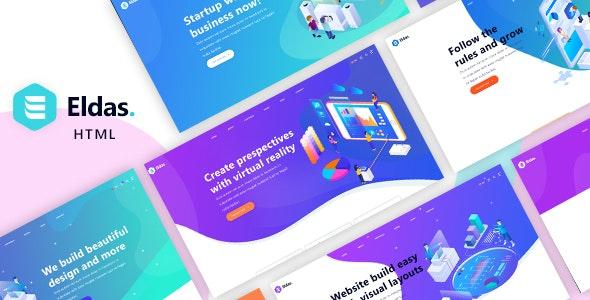 Eldas - Isometric Portfolio HTML5 Template - Portfolio Creative