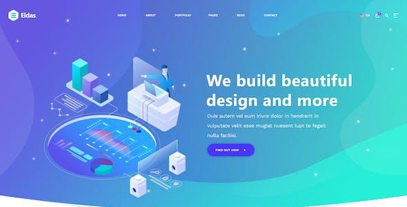 Eldas - Isometric Portfolio HTML5 Template