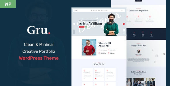 Gru - Personal Portfolio WordPress Theme - Portfolio Creative