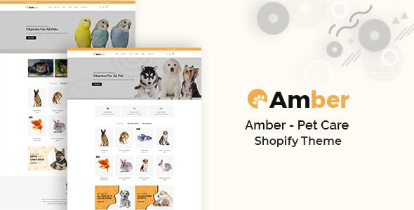 Amber - Pet Care Shopify Theme - Shopping Shopify