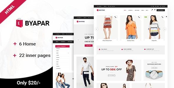 Byapar | Multi-Purpose E-commerce Template - Site Templates