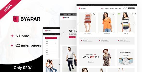 Byapar   Multi-Purpose E-commerce Template