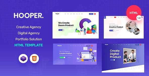 Hooper - Digital Marketing Template - Portfolio Creative