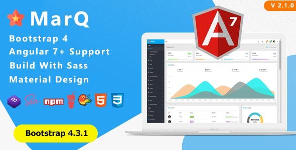 MarQ - Bootstrap 4 & Angular 7+ Admin Dashboard Template - Admin Templates Site Templates