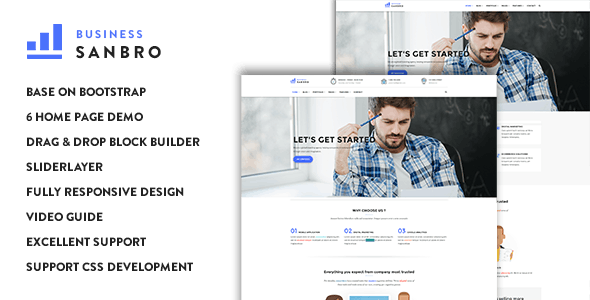 Sanbro - Responsive Business Drupal 8.6 Theme - Corporate Drupal