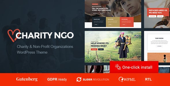 Charity NGO - Donation & Nonprofit Organization WordPress Theme