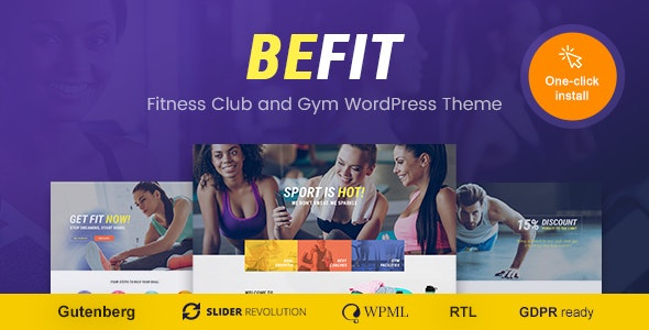 Be Fit - WordPress Theme for Gym, Yoga & Fitness Centers - Health & Beauty Retail