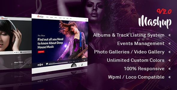 MashUp | Music | Band | DJ WordPress Theme - Music and Bands Entertainment