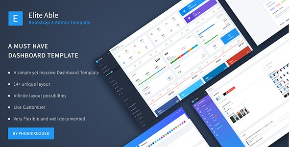 Elite Able - Bootstrap 4 Admin Template by phoenixcoded