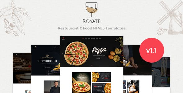 Royate | Restaurant HTML5 Template