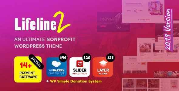 Lifeline 2 - An Ultimate Nonprofit WordPress Theme for Charity, Fundraising and NGO Organizations - Charity Nonprofit