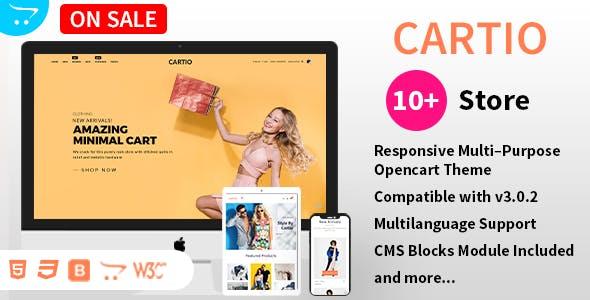 Cartio - Multi-Purpose Responsive Opencart Theme