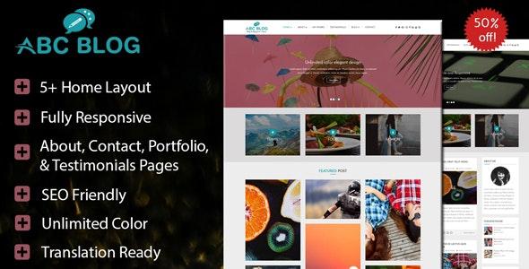 Abcblog - WordPress Blog and Magazine Theme - Blog / Magazine WordPress