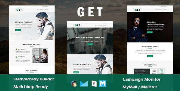 Get - Multipurpose Responsive Email Template With Online StampReady Builder Access - Newsletters Email Templates