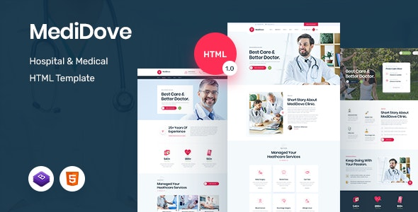 MediDove - Medical and Health HTML5 Template - Health & Beauty Retail