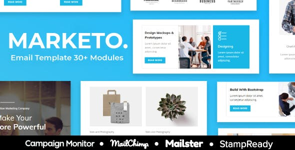 Marketo - Multipurpose Responsive Email Template 30+ Modules - StampReady + Mailster & Mailchimp