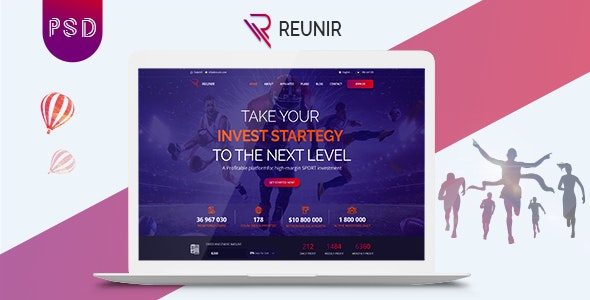 Reunir – Sports Investment Landing Page - Business Corporate