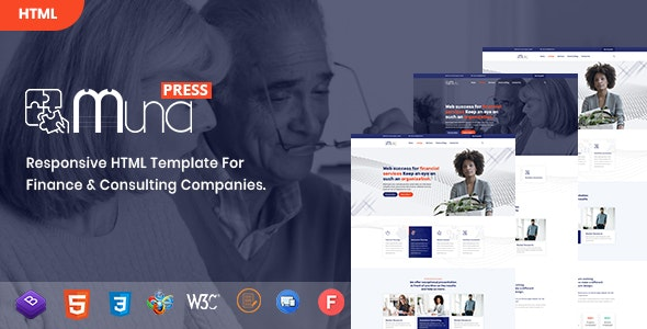 Muna - Business, Finance & Consulting HTML Template - Corporate Site Templates
