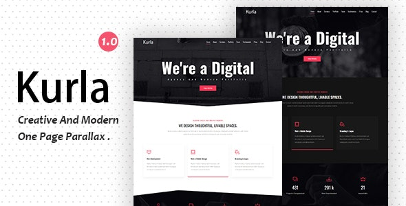 Kurla - Creative One Page Parallax - Creative Site Templates