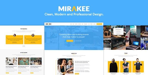 Mirakee – A Multipurpose Single Page PSD Template - Portfolio Creative