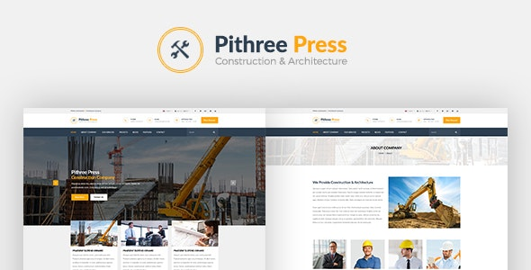 Pithree – Construction & Building WordPress Theme - Business Corporate