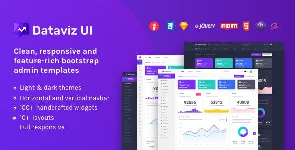 DatavizUI Bootstrap Admin Dashboard Template - Admin Templates Site Templates