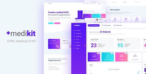 Medikit - Medical UI HTML Kit - Dashboard and Landing Page - Health & Beauty Retail