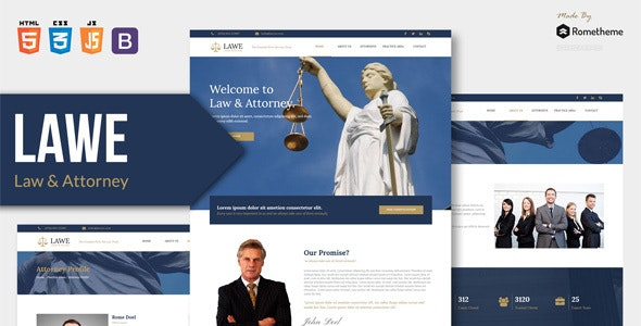 LAWE - Lawyer and Attorney HTML Template - Corporate Site Templates