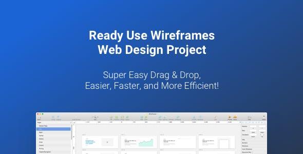 Wirefire - Wireframe Kit Web Design - 300++ Sketch - XD - PSD Template
