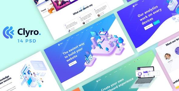 Clyro - Isometric Agency PSD Template - Portfolio Creative