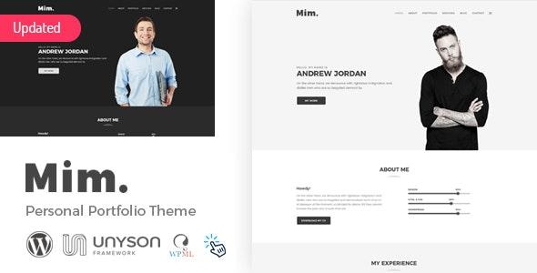 Mim - Personal Portfolio WordPress Theme - Portfolio Creative