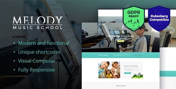 Melody - Music School WordPress Theme - Education WordPress