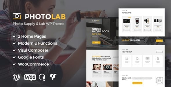 PhotoLab | A Trendy Picture Company & Stock Image Supply Store WordPress Theme - Photography Creative