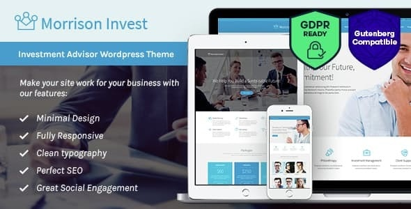 Investments, Business & Financial Advisor WordPress Theme - Business Corporate