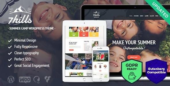 SevenHills - Hiking Summer Camp Children WordPress Theme - Children Retail
