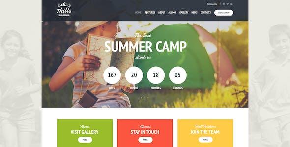 SevenHills - Hiking Summer Camp Children WordPress Theme