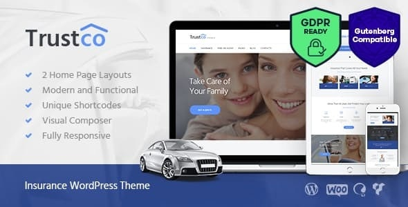 Insurance Agency, Finance & Business WordPress Theme - Business Corporate