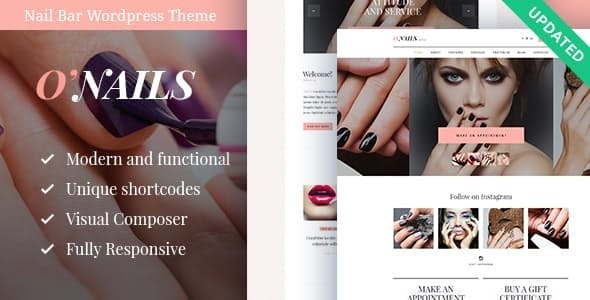 O'Nails - Nail Bar & Beauty Salon Wellness WordPress Theme - Health & Beauty Retail