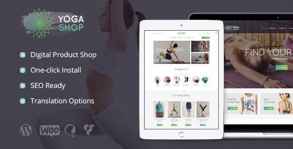 Yoga Shop - A Modern Sport Clothing & Equipment Store WordPress Theme - WooCommerce eCommerce