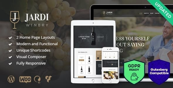 Jardi | Winery, Vineyard & Wine Shop WordPress Theme - Business Corporate