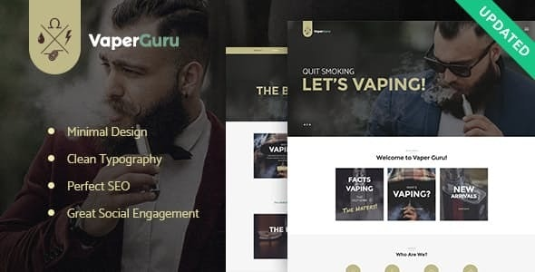 VaperGuru - Vapers Community & Cigarette Store WordPress Theme - Business Corporate