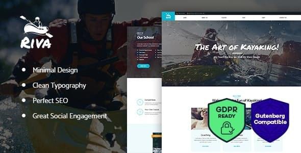 Kayaking / Paddling /  Sports & Outdoors WordPress Theme - Entertainment WordPress