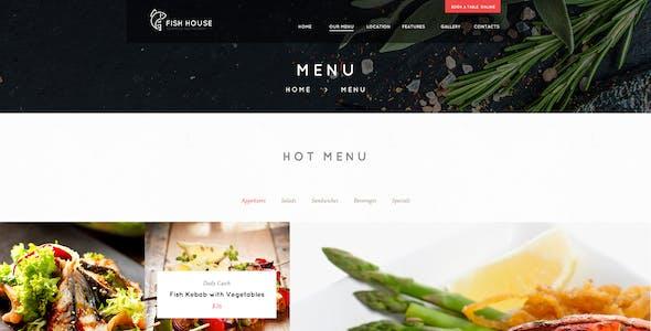 Fish House | A Stylish Seafood Restaurant / Cafe / Bar WordPress Theme