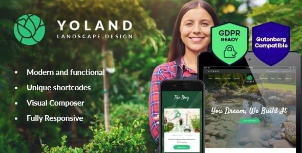 Yoland | Landscape Design & Garden Accesories Store WordPress Theme - Portfolio Creative