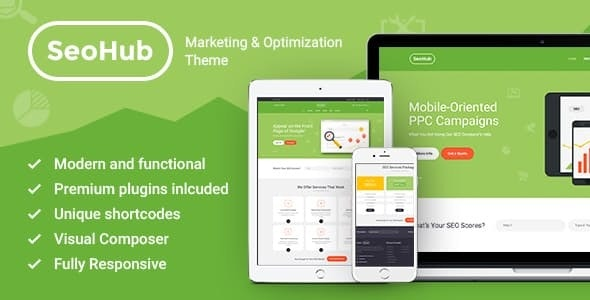 SEOHub - A Colorful SEO & Marketing Agency WordPress Theme - Marketing Corporate