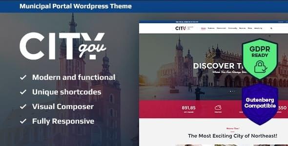 City Government & Municipal Portal WordPress Theme - Political Nonprofit