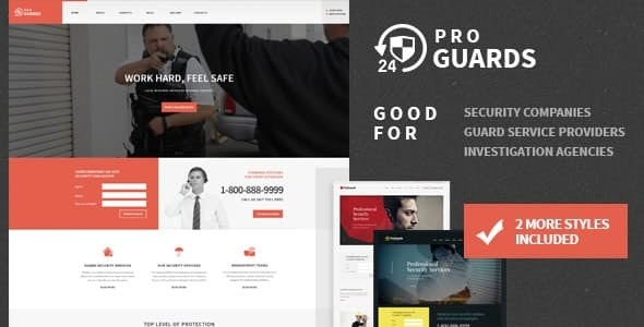 ProGuards - Safety Body Guard & Security WordPress Theme - Business Corporate