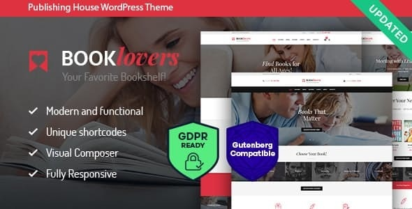 Booklovers - Publishing House & Book Store WordPress Theme + RTL - WooCommerce eCommerce