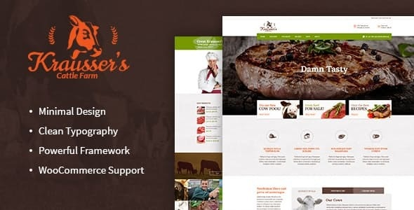 Krausser's | Cattle Farm & Meat Produce Market WordPress Theme - Food Retail