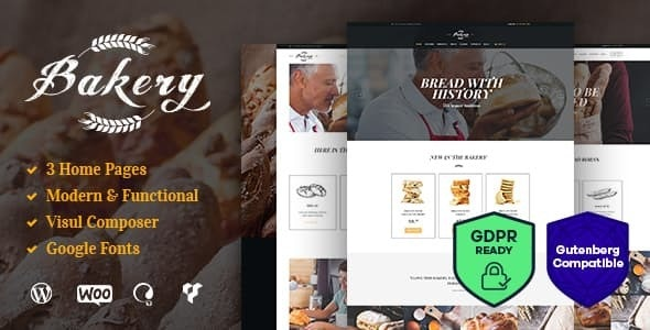 Bakery, Sweets Cafe & Pastry Shop WordPress Theme - Food Retail